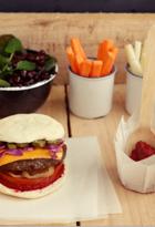 Dip de papel con hamburguesa liviana