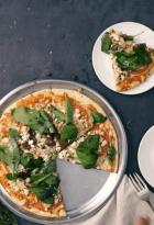 Pizza con hongos